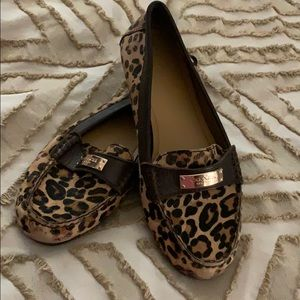 These cute Coach shoes in lovely leopard pony hair